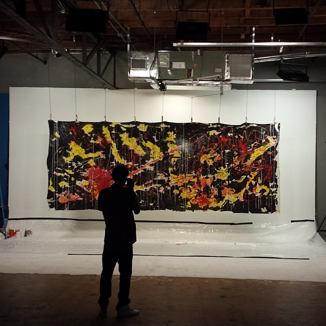 Cool shot of a photographer taking pics of the final product from last night's event @cistudios #hecone #hec1 #heconelove #abstract #streetart #miamiart #miamiartist #fatvillage #c&istudios #fatvillageartwalk #ftlauderdale #wynwood #miami #art #canvas #largecanvas #fun #painting