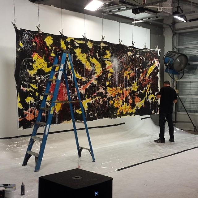 Had a great time painting live last night! @cistudios photo cred: @keepn_it_reel #hecone #hec1 #heconelove #largecanvas #live #painting #abstract #streetart #streetartist #miamiartist #art #fatvillage #fatvillageartwalk #c&istudios