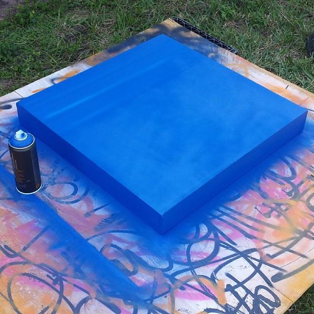 Working on some new pieces for next Saturdays show at Ft Lauderdale Fat Village #hecone #hec1 #heconelove #streetartist #wip #fatvillage #fatvillageartwalk #ftlauderdale #miami #wynwood #loveism #blue